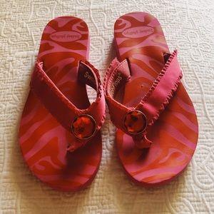 Lindsay Phillips Pink Switch Flops